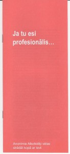 ja tu esi profesionalis